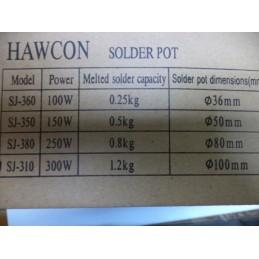 Hawcon Lehim Eritme Potası 100mm