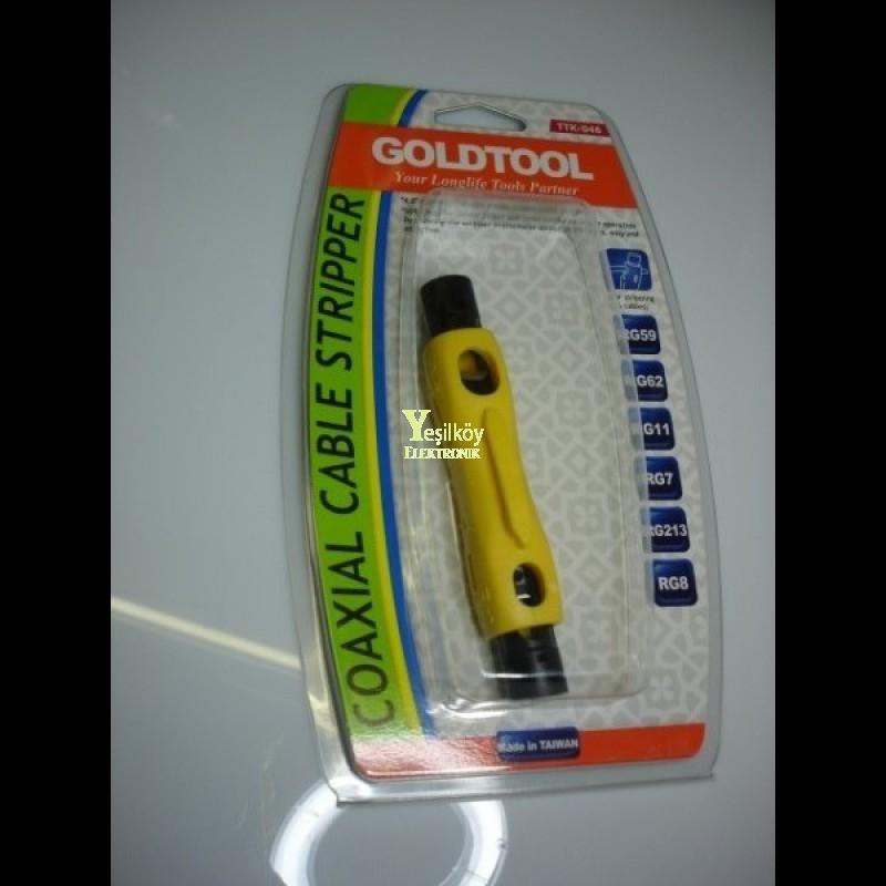 Goldtool coaxial kablo soyucu