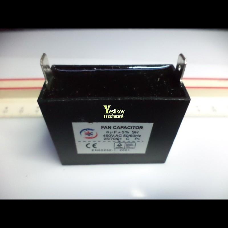 8mf 450v ac fan kondansatörü