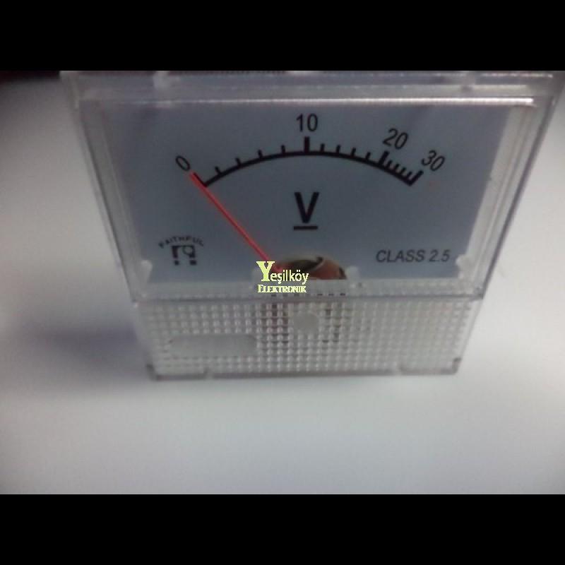 analog dc voltmetre 0-30v
