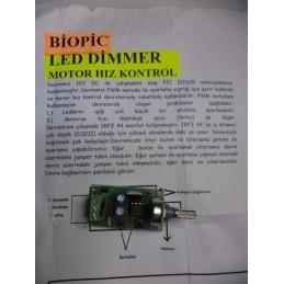 Biopic DC motor kontrol kartı ve led dimmer