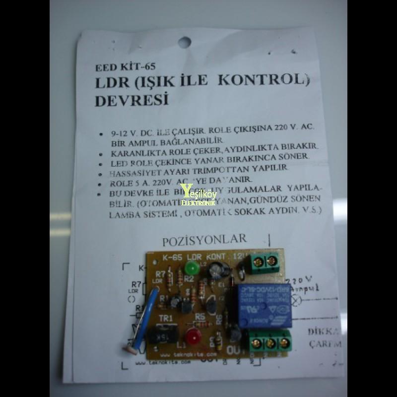 LDR ışık ile kontrol devresi