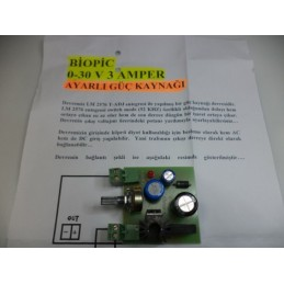 0-30v 3amper güç kaynağı devresi