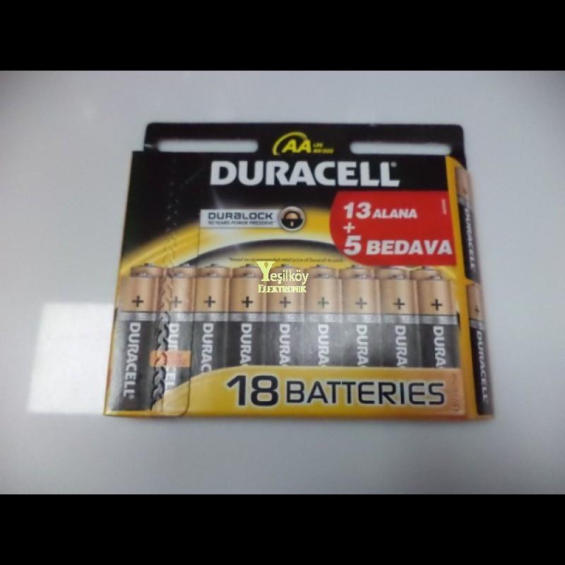 Duracell AA kalem pil 18li paket