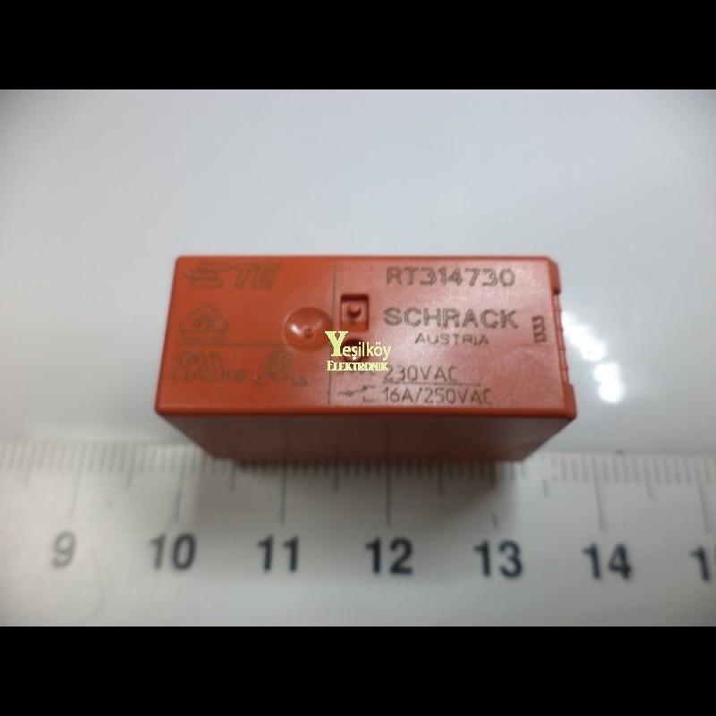 Schrack 220v AC röle tek kontak