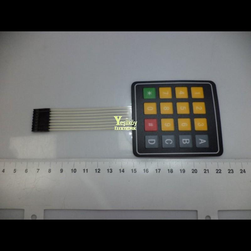 4x4 Keypad Sarı Renkli