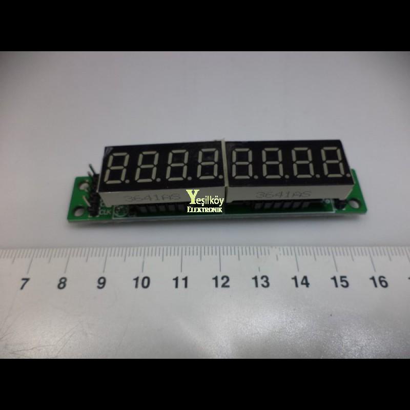 Max7219 8li 7 Segment Display Modülü