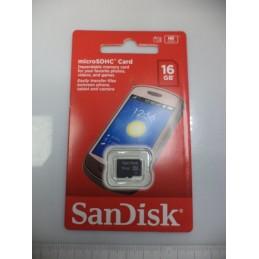 Sandisk 16gb Micro SD Card Class 4