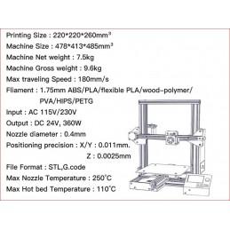 K10 20x20x26 3d Yazıcı