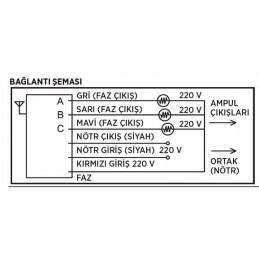 Cata 3lü Kumanda Seti 220v CT-9115