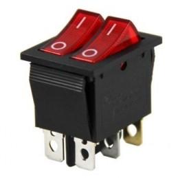 ikili Işıklı Anahtar On-Off 6p