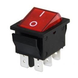 Geniş Işıklı Anahtar On-Off 6p
