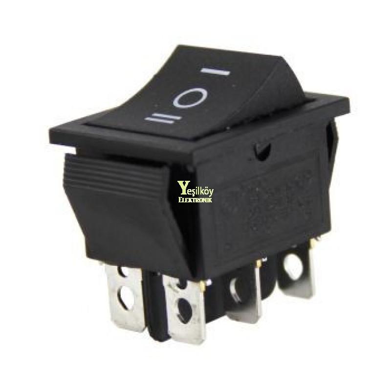 Geniş Işıksız Anahtar On-Off-On 6p