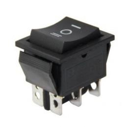 Geniş Işıksız Anahtar ON-OFF-ON 6p Yaylı