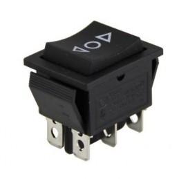 Geniş Işıksız Anahtar ON-OFF-ON 6p Oklu Yaylı
