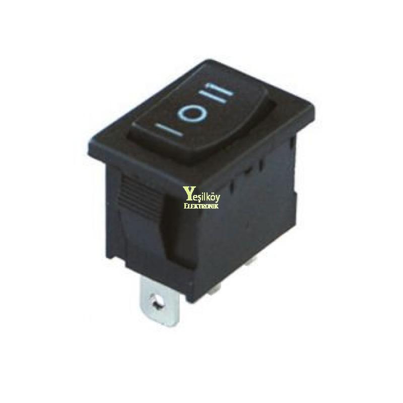 Mini Işıksız Anahtar ON-OFF-ON 3p Yaylı