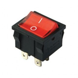 Orta Boy Işıklı Anahtar On-Off 4p Renkli
