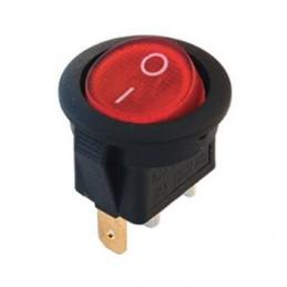 Yuvarlak Işıklı Anahtar On-Off 3p 12volt Renkli