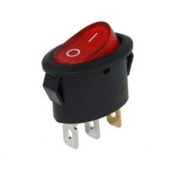 Oval Işıklı Anahtar On-Off 3p