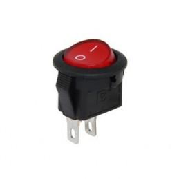 Mini S Yuvarlak Işıksız Anahtar On-Off 2p Kırmızı