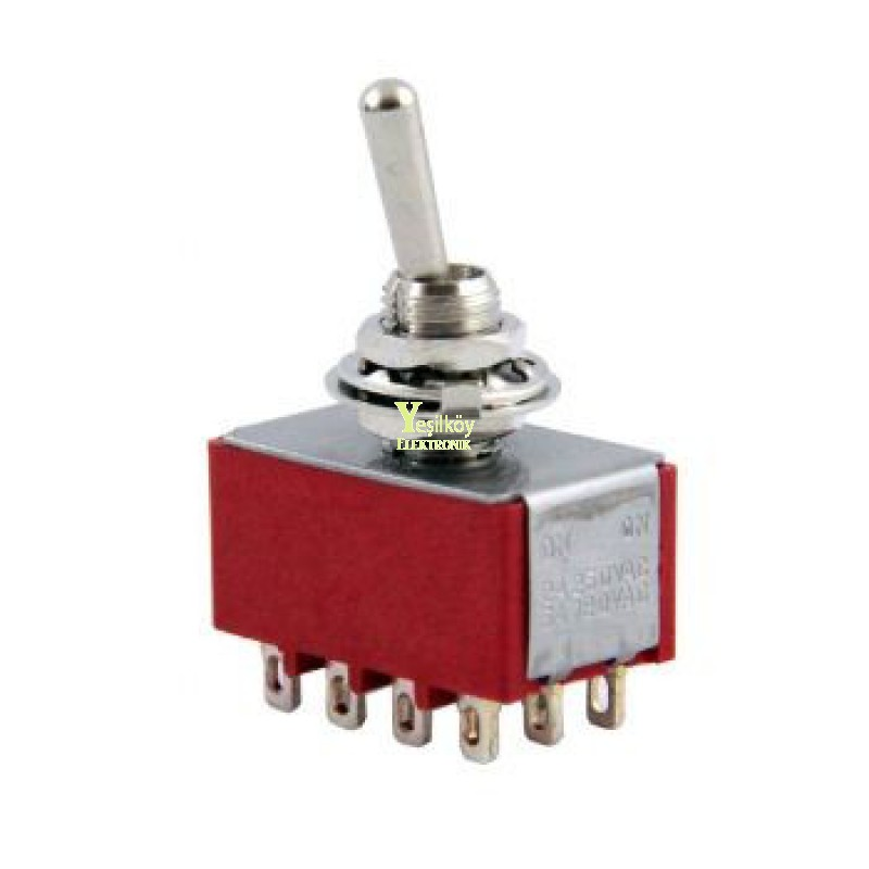 Toggle Switch On-Off 12p MTS-402