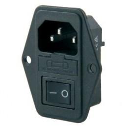 Power Soket Erkek Anahtarlı + Fuseli Kulaklı A Kalite