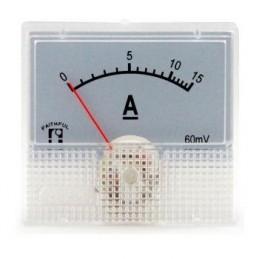 Ampermetre 48x45mm EKRAN 44x25mm 15a Dc
