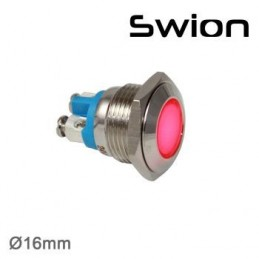 Swion Metal 12volt 16mm Sinyal Lambası ip67 Turuncu