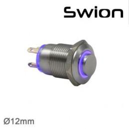Swion Metal 12volt 12 mm Halka Ledli Buton 4p ip65 Kırmızı