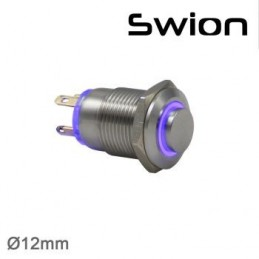 Swion Metal 12volt 12 mm Halka Ledli Buton 4p ip65 Beyaz