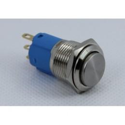 Swion Metal 16mm Işıksız Metal Anahtarlı 2 Bacak ip65 Basılınca Düz