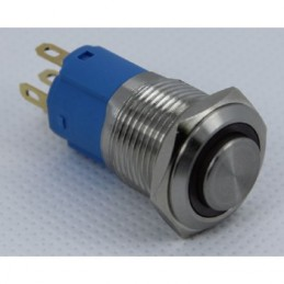 Swion Metal 12volt 16mm Halka Ledli Anahtar Çıkık ip67 Kırmızı
