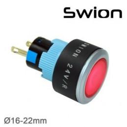 10-24v 22mm Sinyal Lambası Mavi Plastik