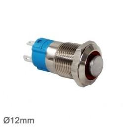 Swion Metal 24volt 12 mm Halka Ledli Buton 4p ip65 Kırmızı