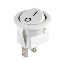 Yuvarlak Işıksız Anahtar On-Off 2p Beyaz