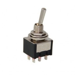 Toggle Switch ON-OFF-ON 6p MTS-223 Yaylı