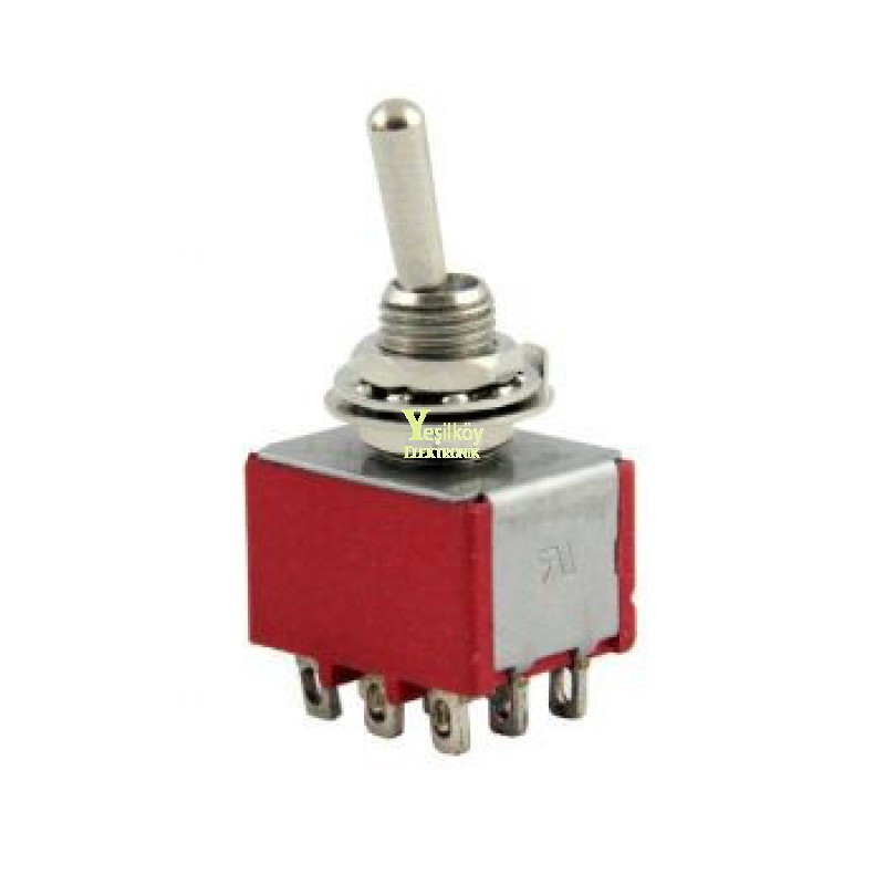 Toggle Switch On-Off-On 9p MTS-303