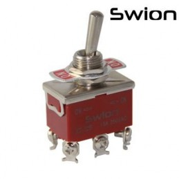 Toggle Switch Büyük Boy On-Off 6p Vidalı Swıon 15a