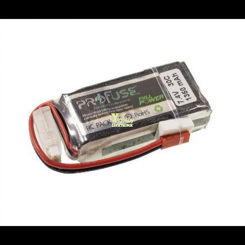 7.4V Lipo Batarya 1350mah 30C 2s